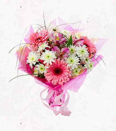 букет из хризантем и герберов фото