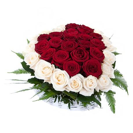 Букеты из роз в корзине фото, доставка цветов г ирпень